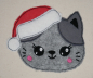 Preview: Freebie Stickdatei Christmas Cat Doodle Applikation