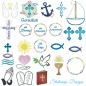 Preview: Stickdatei Set christliche Symbole