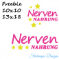 Preview: Freebie Stickdatei Nervennahrung