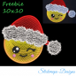 Mobile Preview: Freebie Stickdatei Christmasface (10x10 Rahmen)
