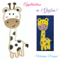 Preview: Stickdatei Giraffe Applikation in 3 Größen