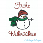 Mobile Preview: Freebie Stickdatei Schneemann (10x10 Rahmen)