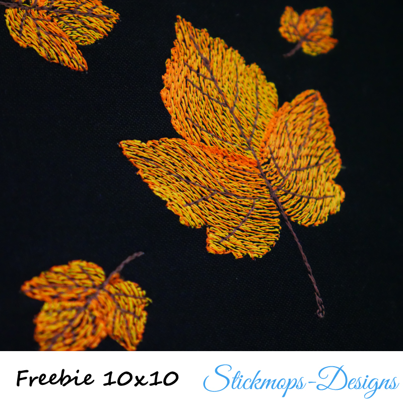 Freebie Stickdatei Goldener Herbst