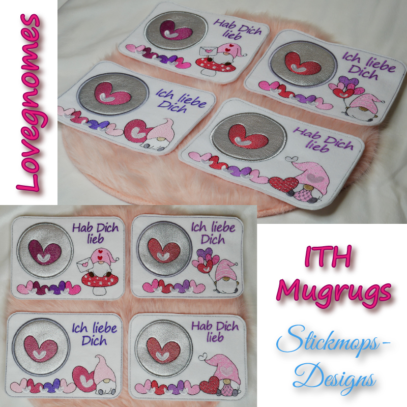 Stickdatei Set Lovegnomes ITH Mugrugs