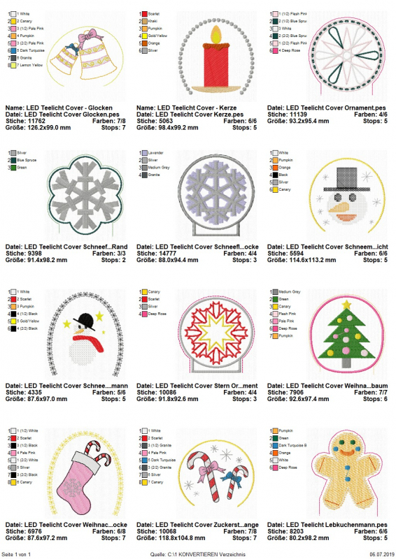 Stickdatei-Set 12 ITH-Christmas LED Cover